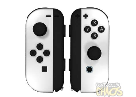 Single Pad Usb Led Transparent arctic white nintendo switch cons custom controllers controller chaos