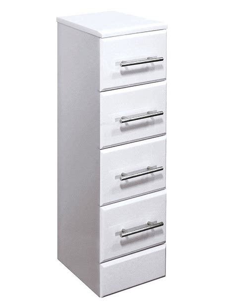 Lauren Gloss White 4 Drawer Bathroom Storage Unit 300 X Bathroom Storage Unit