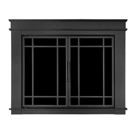 pleasant hearth fillmore small glass fireplace doors fl