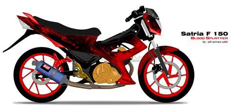 Sticker Motor New Satria Fu 150 Hoonigan 06 Spec A Striping Motor image gallery satria fu