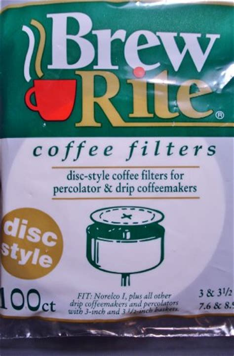 Disc Filter 34 Inch brew rite disc coffee filter 100 ct coconuas151