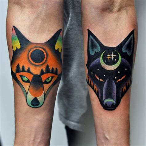 matching wolf tattoos 17 best ideas about matching tattoos on pair