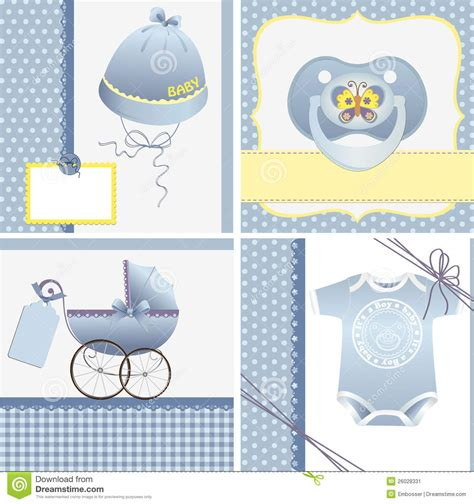 baby arrival cards templates templates for baby card stock image image 26028331