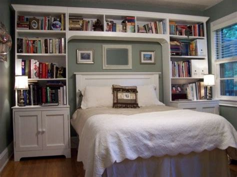 Bedroom With Lots Of Shelves Best 20 Bookcase Headboard Ideas On Book