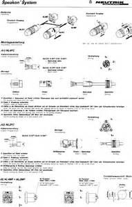 neutrik speakon nl2 nl4 loudspeaker connectors free data sheet by gb audio