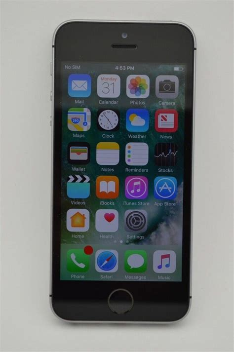 iphone at t apple iphone se 128gb space gray gsm unlocked at t metropcs t mobile cricket ebay