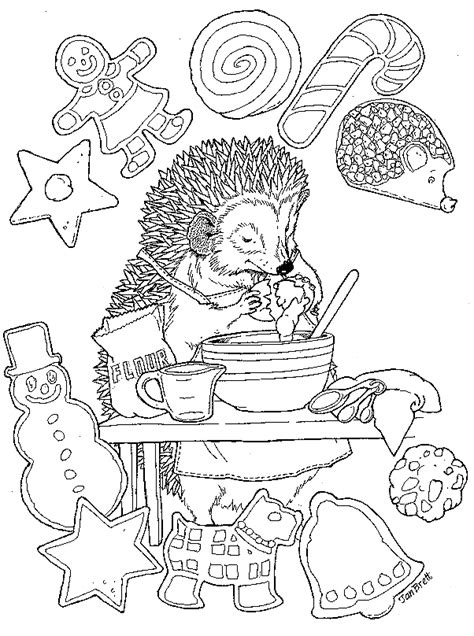 christmas treats coloring pages   print