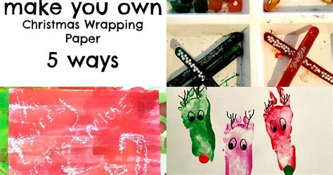 Make My Own Wrapping Paper - and learning begins at home make your own