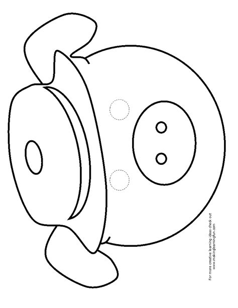 pig mask template three pigs masks coloring coloring pages