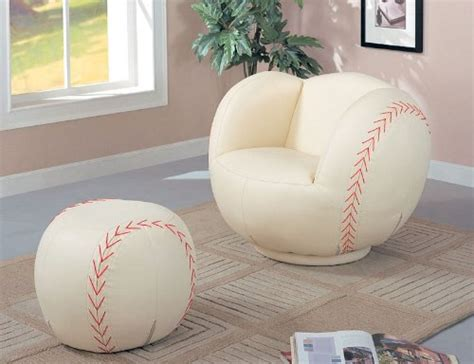 baseball swivel chair and ottoman 11 cool sports chairs for toddler boys