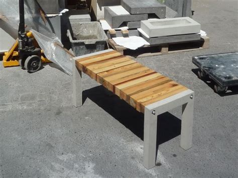 wood and concrete bench essence bench recycled ideas furniture wood furniture