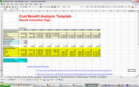 cost benefit analysis template free and