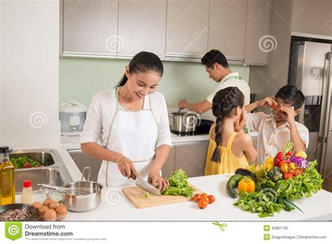 family in kitchen family in the kitchen stock photo image 43961730