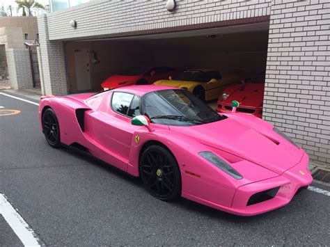 pink ferraris japanese collector has pink enzo
