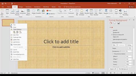 how to set a picture as a background on powerpoint how to set a background picture in powerpoint 16