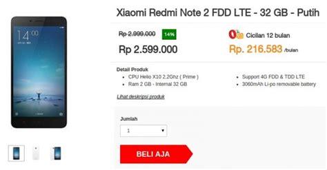 Hp Xiaomi Redmi Note 2 Prime Di Indonesia xiaomi redmi note 2 prime sudah bisa dibeli di indonesia harga 2 6 juta