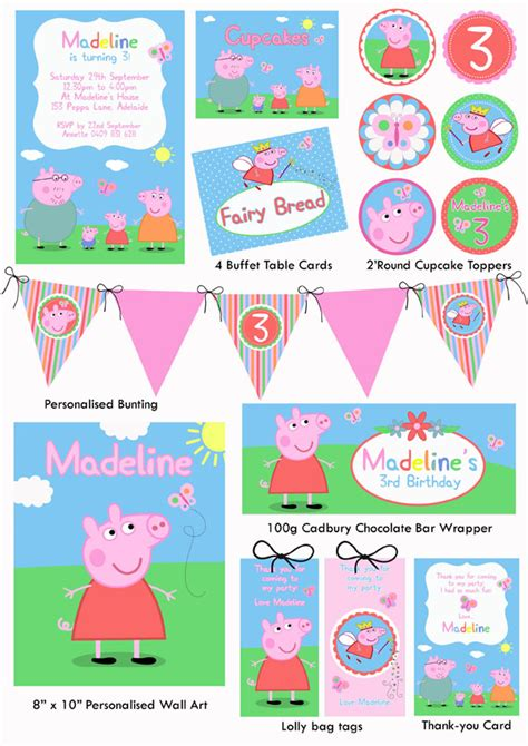 peppa pig printable birthday decorations 6 best images of peppa pig party free printables free