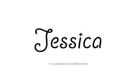 jessica name tattoo designs name designs