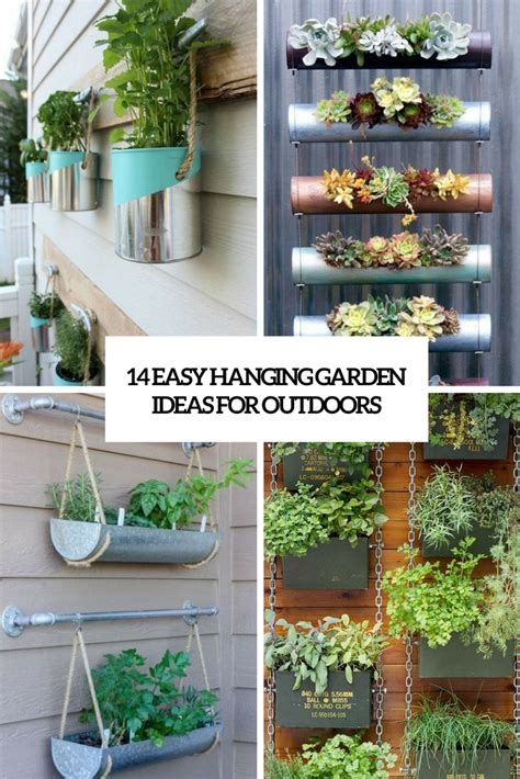 Hanging Garden Ideas 18 Easy Hanging Gardens Ideas For Outdoors Shelterness
