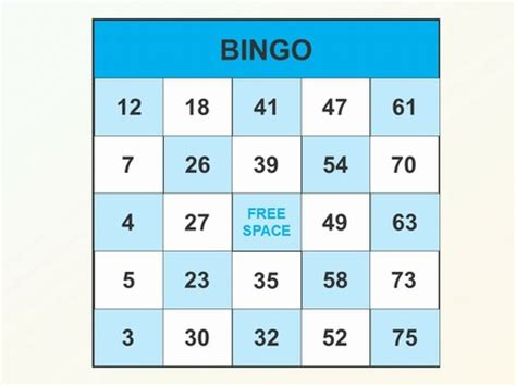 Bingo Template Bingo Powerpoint Template