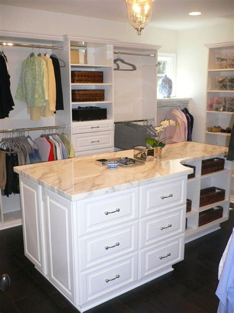 Walk In Closet With Center Island by Master Closet Traditional Closet Other By Dave