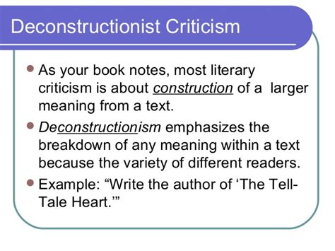 Deconstructive Criticism Essay by Introduction To Literary Criticism 2