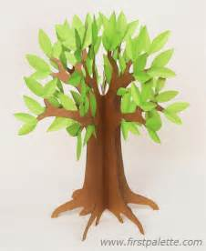 3d Paper Template by 3d Paper Tree Craft Crafts Firstpalette