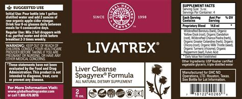Livatrex Liver And Gallbladder Cleanse Detox by Livatrex All Liver Support Global Healing Center