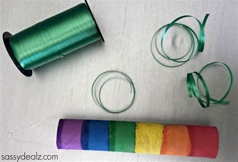 Paper Towel Craft - rainbow paper towel wind catcher craft for crafty