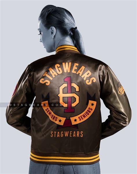 design cheer jacket custom satin varsity jacket baseball cheerleader jackets