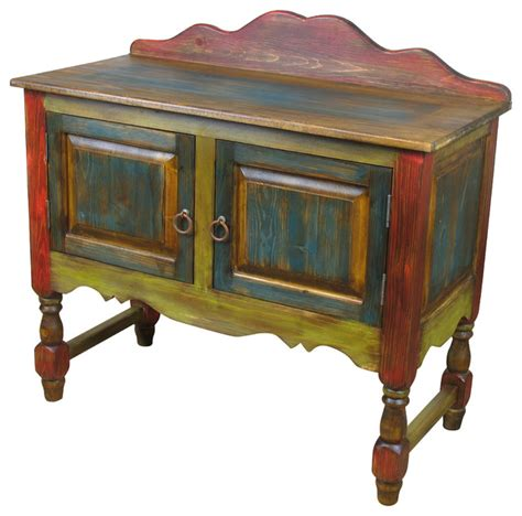 Painted End Tables Painted Wood Sideboard With Turned Legs Side Tables And