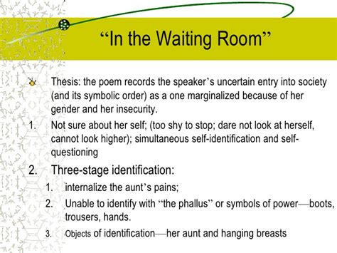 elizabeth bishop in the waiting room jacques lacan elizabeth bishop