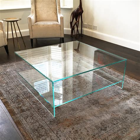 low glass top coffee table judd square glass coffee table with shelf klarity