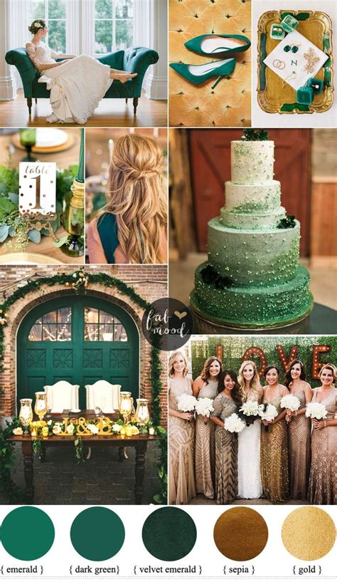 themes about gold emerald and gold wedding colour for vintage wedding theme