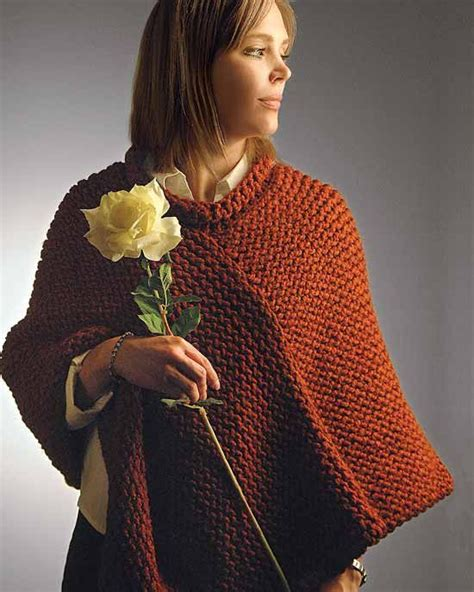 how to knit a poncho knifty knitter shawl poncho shrug and wrap patterns