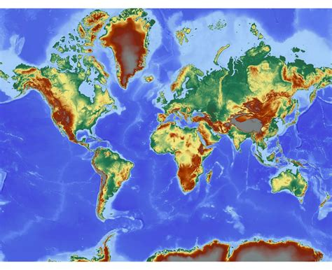 topographic map of the world maps of the world world maps political maps physical