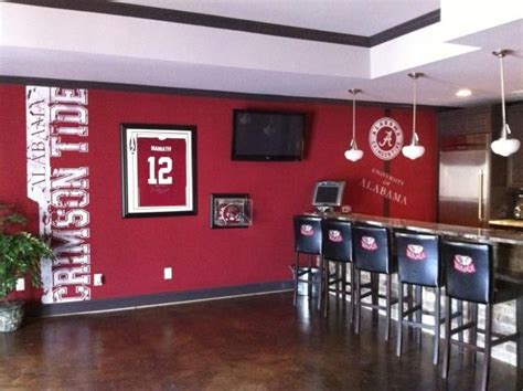 alabama bedroom decor 1000 ideas about basement sports bar on pinterest