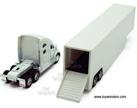 kinsmart kenworth t700 container truck 1 68 scale diecast model car white 1302ww