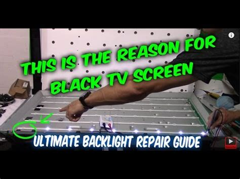 reset vizio tv black screen how to fix led lcd tv black screen no backlight tv