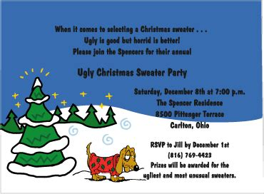 ugly sweater party invitations from tiny tidings