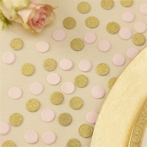 Table Confetti by Gold Glitter And Pastel Pink Table Confetti By