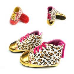 gold crib shoes 1pair baby shoes baby infant toddler leopard