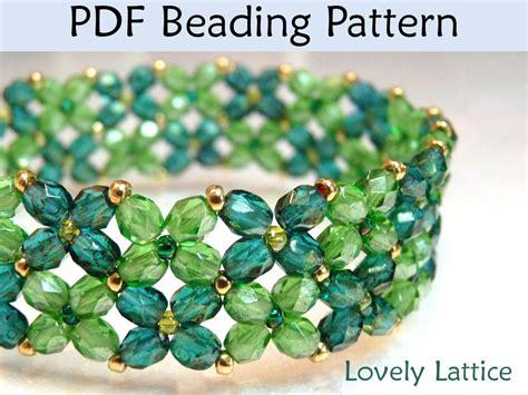 beadwork simple beading tutorial pattern bracelet beginner jewelry
