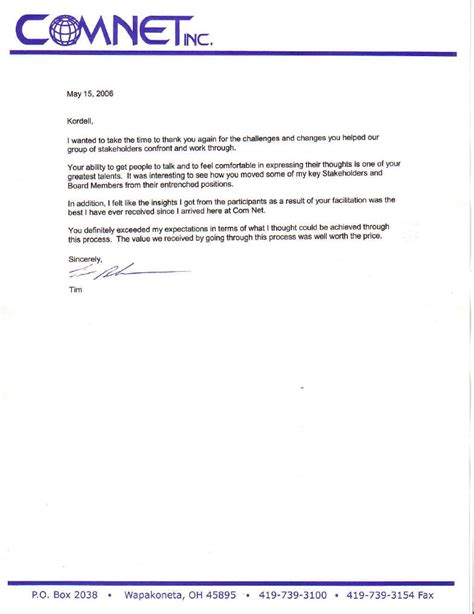 Recommendation Letter For Facilitator Reference Letter New