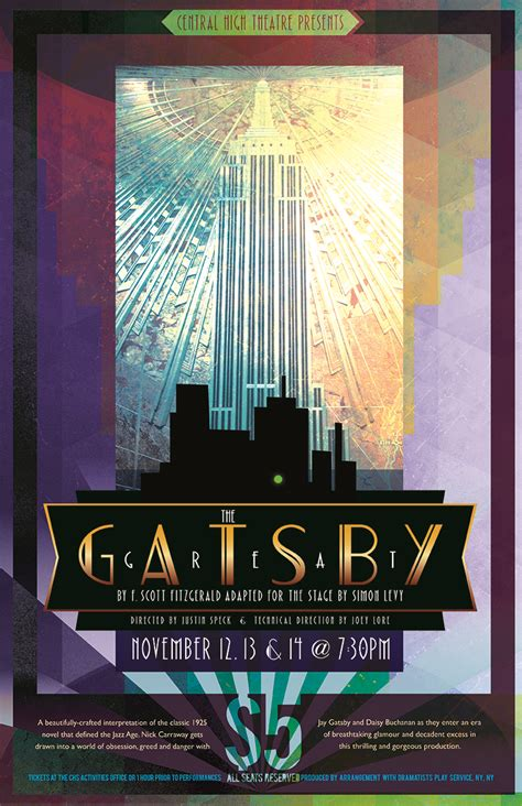 central high theater great gatsby poster asio studio