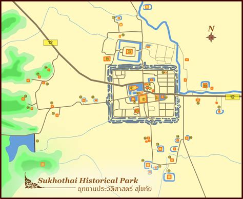 sukhothai historical park map the sukhothai historical park travel destinations