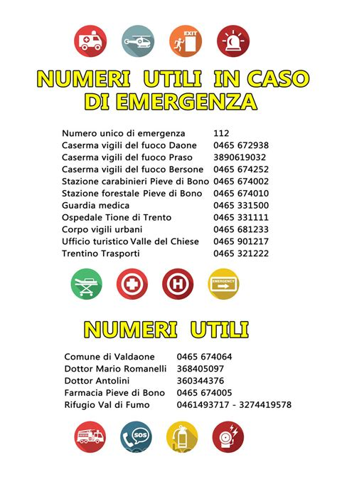 numeri a caso numeri utili informazioni utili il territorio di