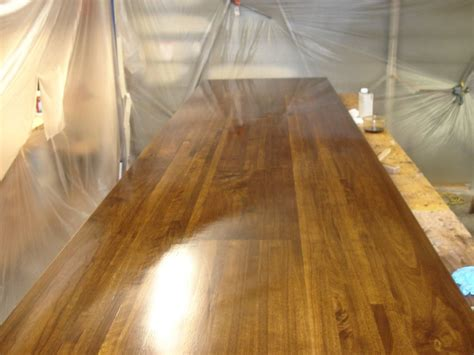 bar top finish bar top glue up finish carpentry contractor talk