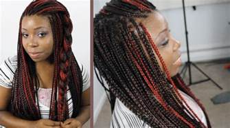 two color box braids hairstyles for box braids 10 ways to style in 2015
