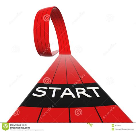art startup red starting line loop stock illustration image of block